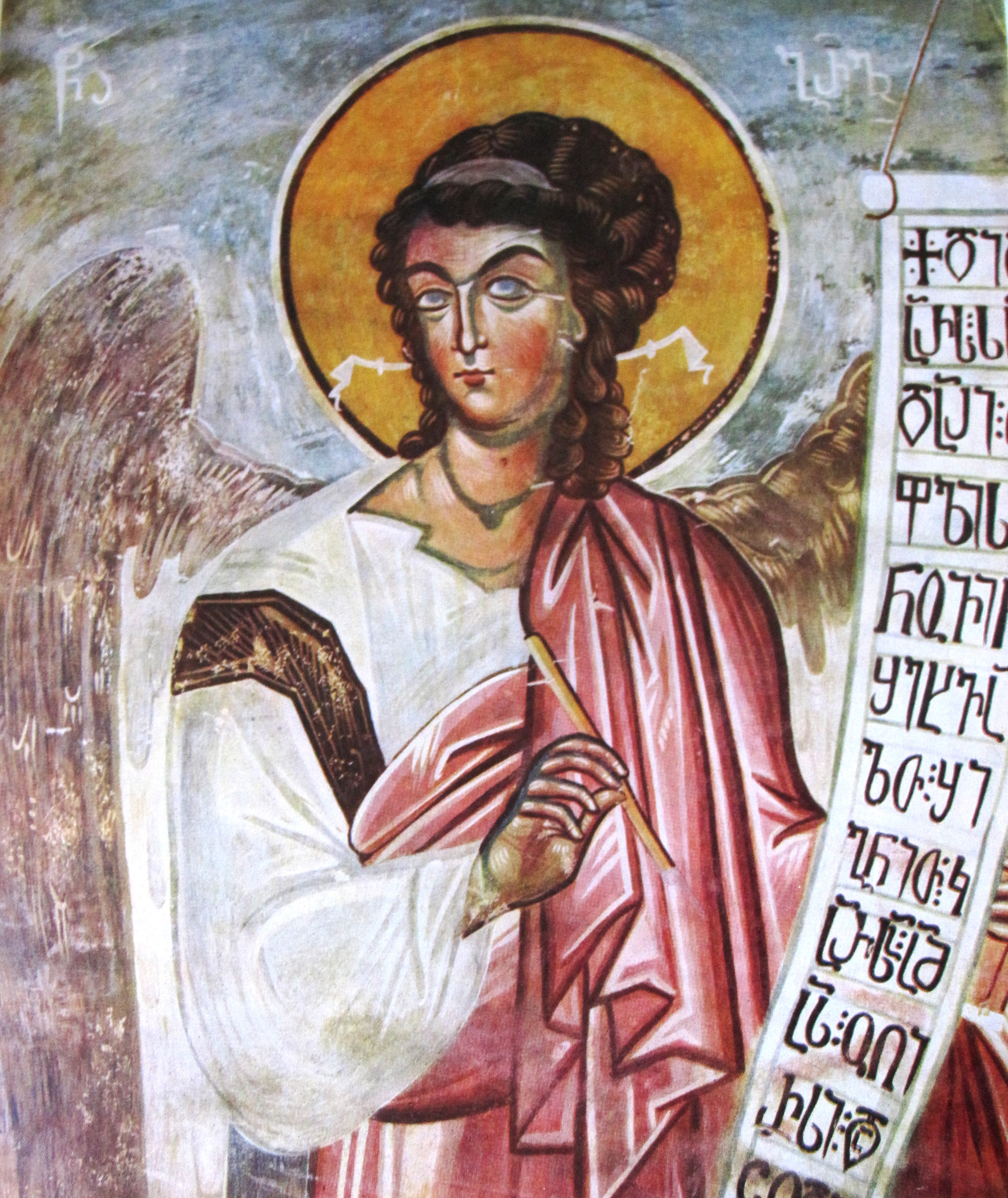 Archangel_Gabriel._Tsalenjikha_fresco_(Georgia,_14th_c.)
